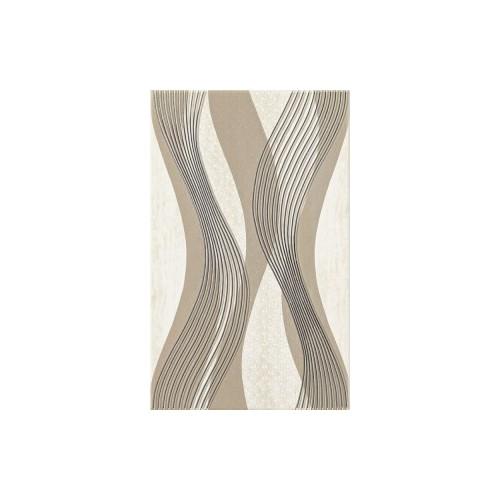 Kwadro Ceramika Sari Beige Inserto 25x40 dekor