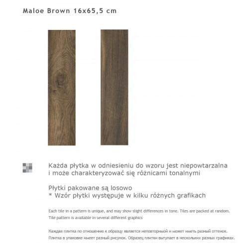Paradyz Ceramika Maloe Brown 16x65,5 gres padlólap