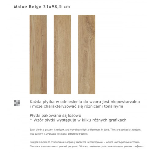 Paradyz Ceramika Maloe Beige 21,5x98,5 gres padlólap