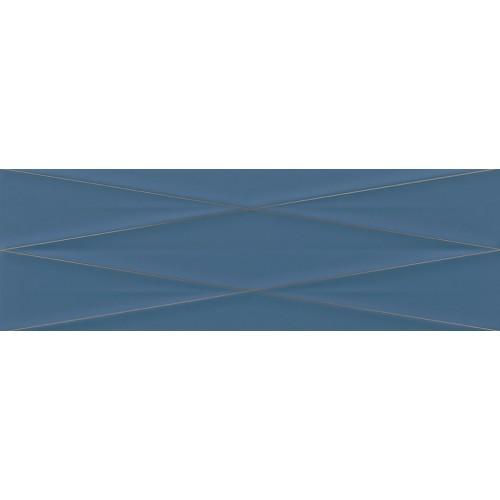 Cersanit Gravity Marine Blue Silver Inserto Satin 24x74 dekor
