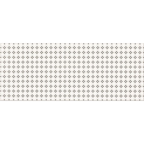 Opoczno Black&White Pattern A 19,8x59,8 dekor csempe