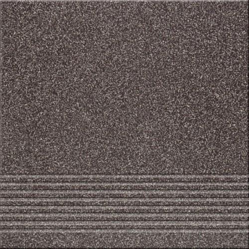 Opoczno Kallisto K11 Black Steptread 29,7x29,7 lépcsőlap