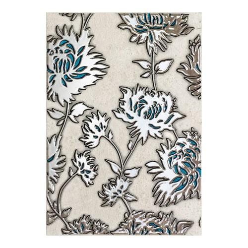 Domino Gris Flower Turkus 25x36 dekor csempe