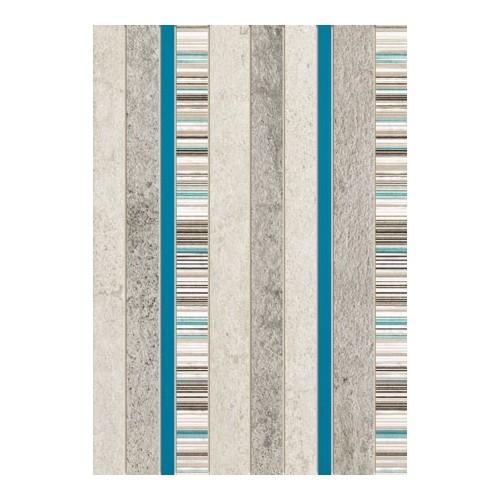 Domino Gris Turkus 25x36 dekor csempe