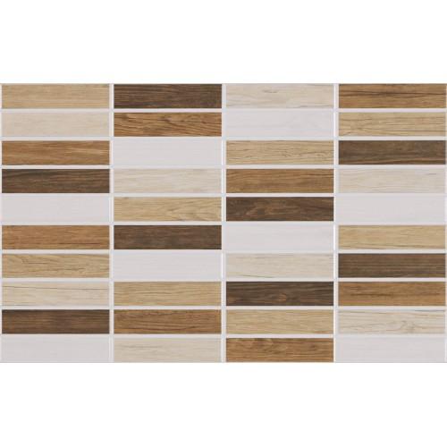 Idea Ceramica Wood Muretto Beige 25x40 fali csempe