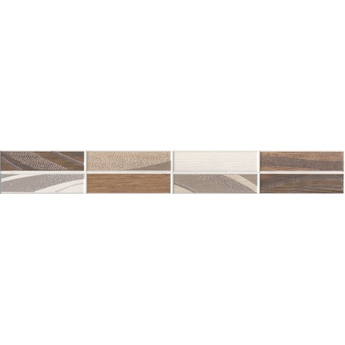 Idea Ceramica Wood Beige 5x40 dekor csík