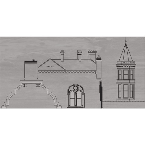 Cersanit City Grey Inserto House A 29,7x60 dekor