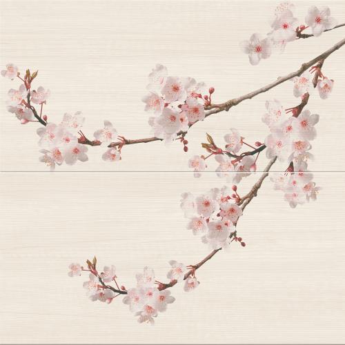 Cersanit Kersen Cream Composition 59,4x60 dekor szett (2 db)