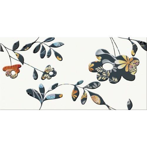 Cersanit Faro Orange Inserto Flower 29,7x60 dekor