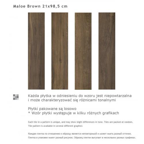 Paradyz Ceramika Maloe Brown 21,5x98,5 gres padlólap