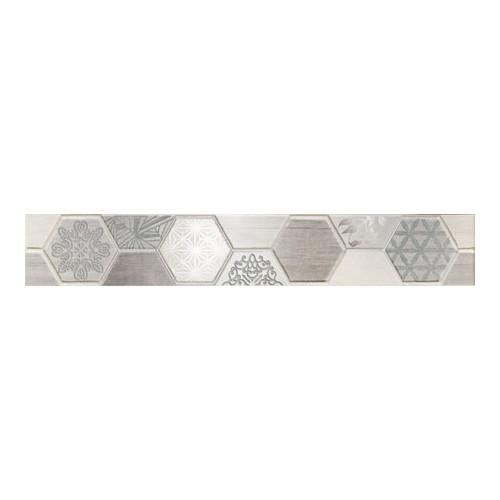 Arte Ceramika Pinia Grey 7,1x44,8 dekorcsík