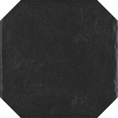 Paradyz Ceramika Modern Nero Octagon 19,8x19,8 padlólap