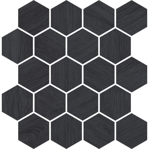 Paradyz Ceramika Taiga Grafit Wood Mosaic 25,8x28 mozaik