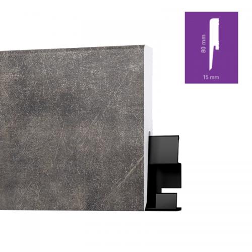 ONE80 Manhattan Concrete 8 cm magas vízálló szegőléc