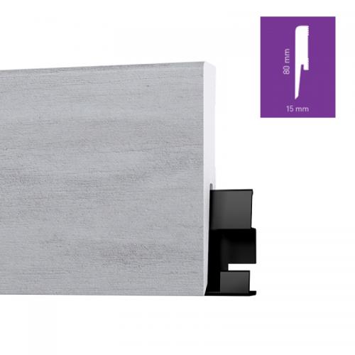 ONE80 Soho Concrete 8 cm magas vízálló szegőléc