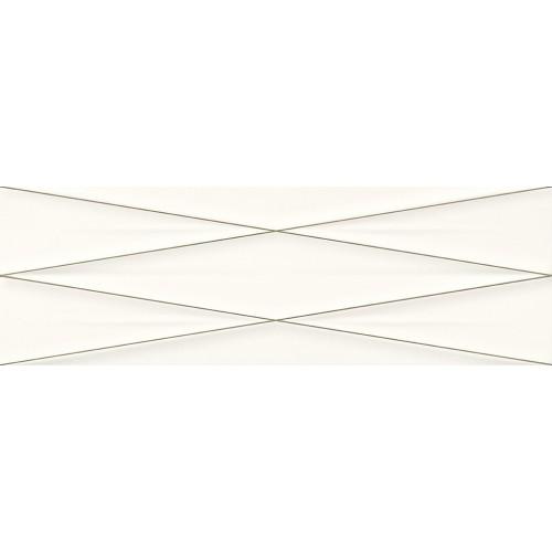 Cersanit Gravity White Silver Inserto Satin 24x74 dekor