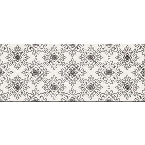 Opoczno Black&White Pattern E 19,8x59,8 dekor csempe