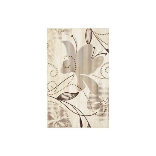 Kwadro Doppia Beige 25x40 inserto A dekor csempe